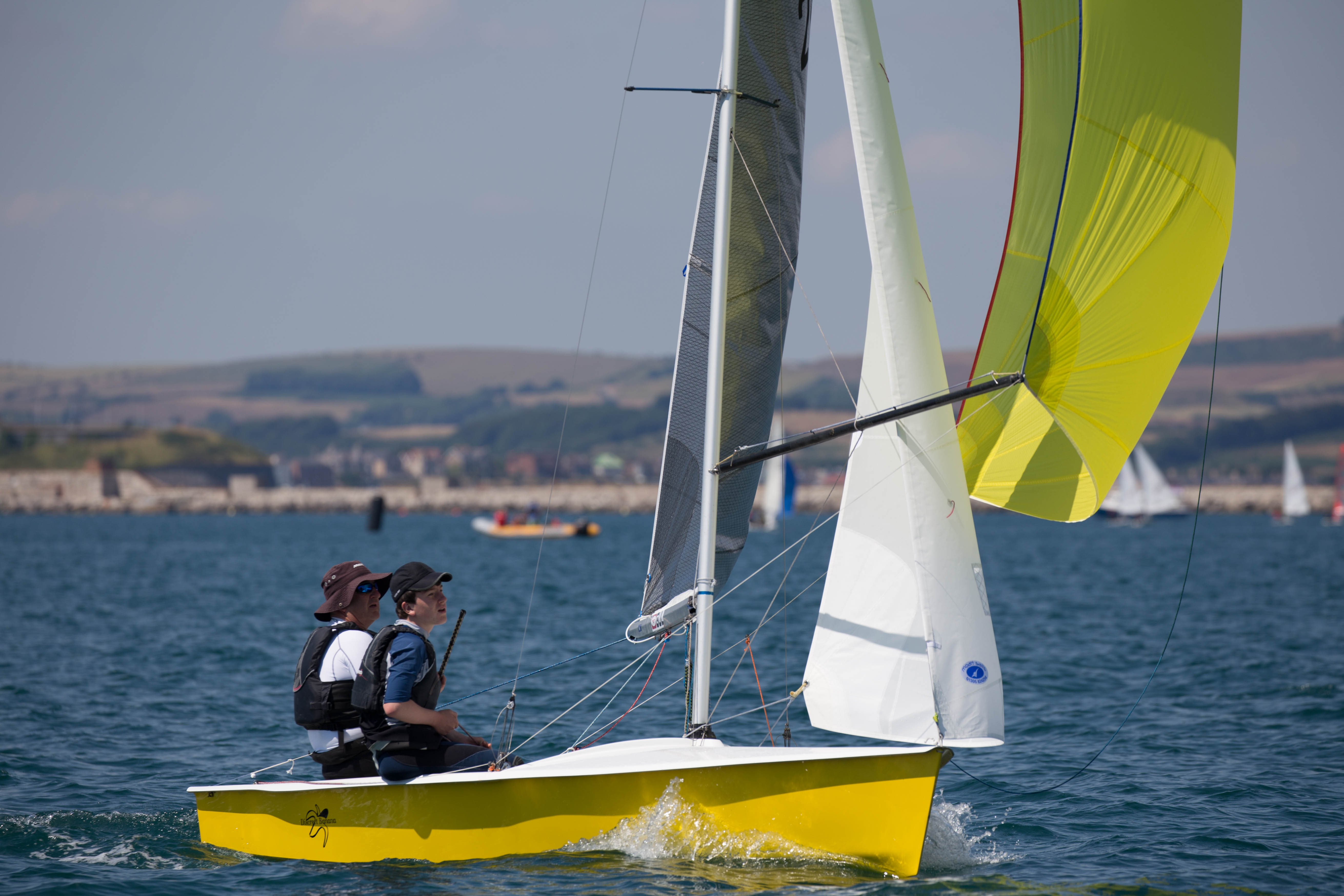 Scorpion sailing at the Weymouth dinghy regatta 2018
